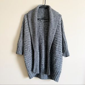 EXPRESS / gray wool alpaca sweater cardigan / L